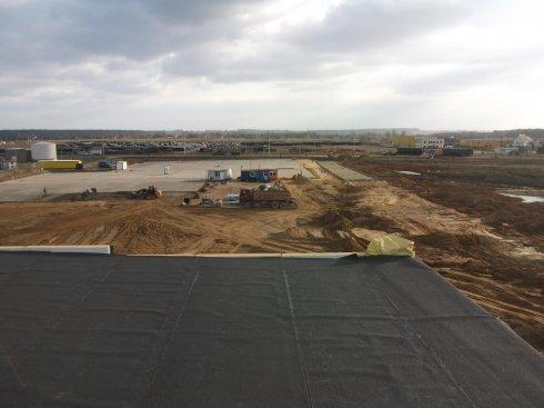Widok z hali dachu