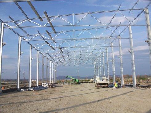 Hala produkcyjna Eco-Line podczas budowy
