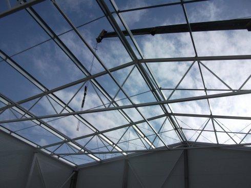 Hala Squash Park budowa dachu