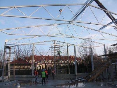 Hala Squash Park podczas budowy